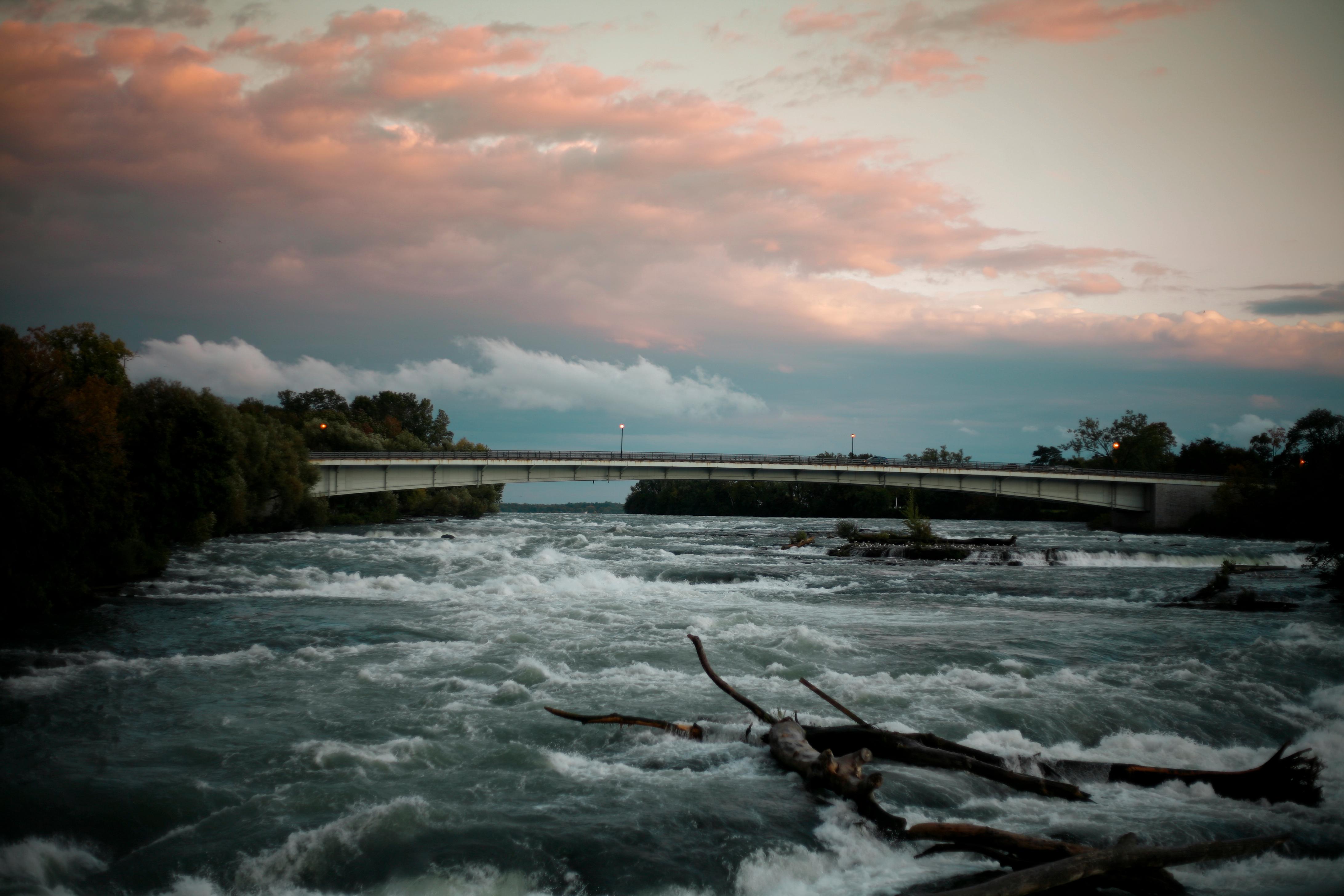 Pink Sky River