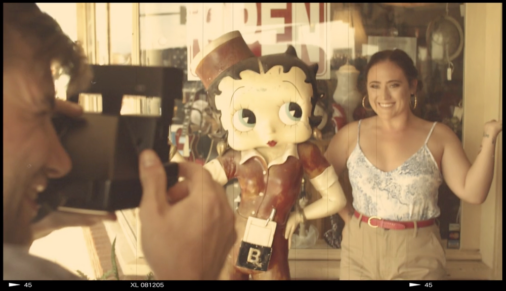 Betty Boop Statue Shop at Lincoln City, OR for Demi Helenius Music Video Polaroid Summer (medium shot)
