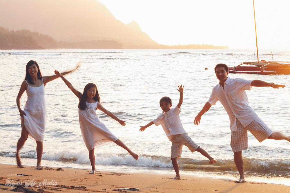 Kauai Family Portrait Photographer Fun