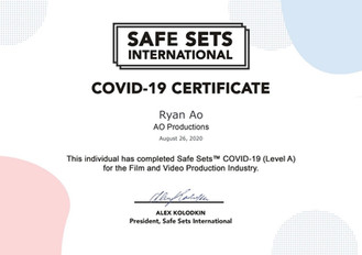 AO Productions is Safe Sets Certified (Level A)