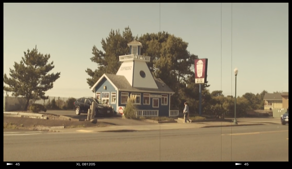 Lighthouse Coffee Lincoln City, Or Demi Helenius AO Productions Music Video Polaroid Summer Wide shot