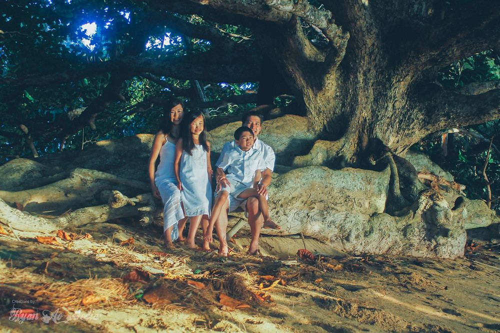 Kauai Family Portrait Photographer Trees