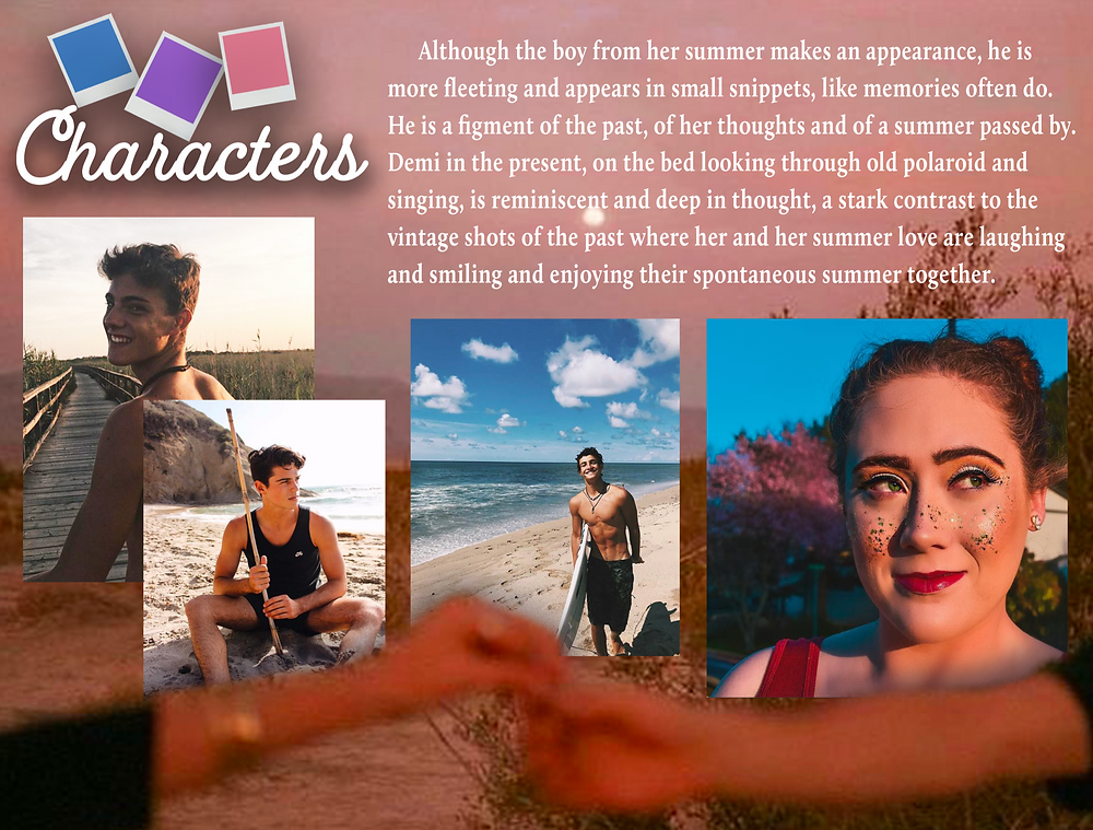 Page 6 Demi Helenius Polaroid Summer Music Video Moodboard Document by Shannon Steed - AO Productions