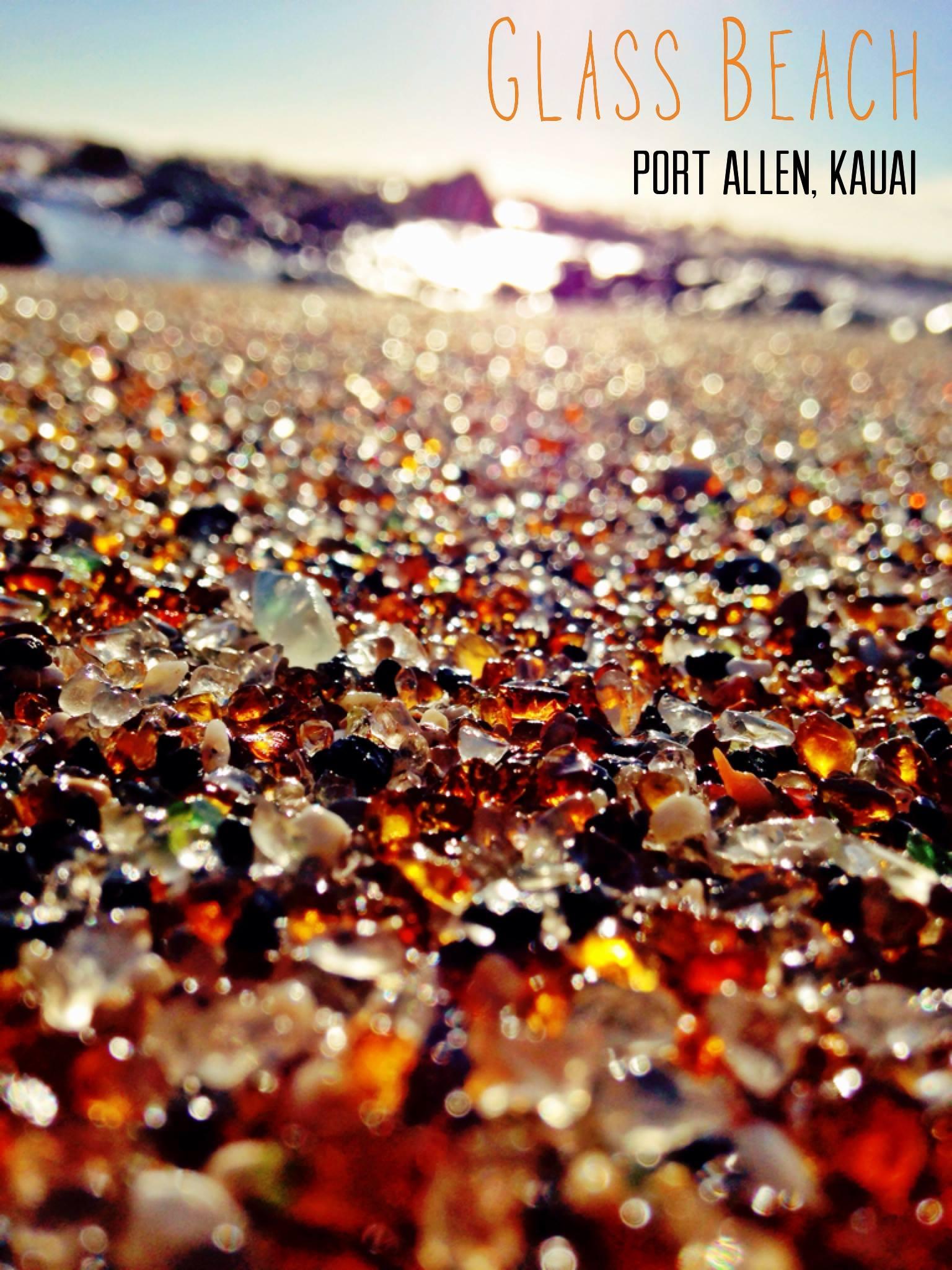 Glass Beach, Port Allen, Kauai, HI
