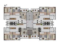 Pavimento do 2º ao 5º andar