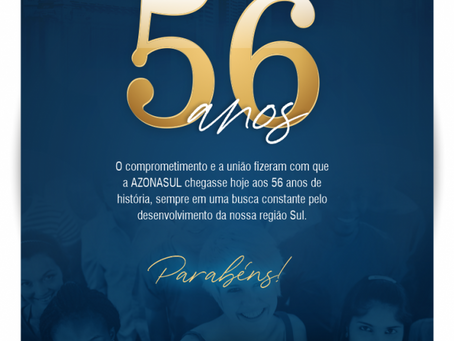 AZONASUL COMPLETA 56 ANOS