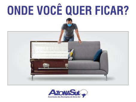 AZONASUL LANÇA NOVA CAMPANHA PARA ENGAJAR POPULAÇÃO NO COMBATE À PANDEMIA
