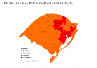 REGIÃO PERMANECE EM BANDEIRA LARANJA
