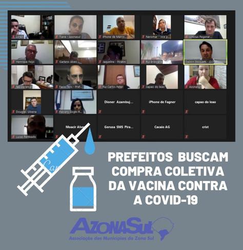 PREFEITOS BUSCAM COMPRA COLETIVA DA VACINA CONTRA A COVID-19