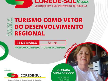 CICLO DE LIVES COREDE SUL 30 ANOS – CONECTADO COM O DESENVOLVIMENTO DA REGIÃO SUL MARCA O TRIGESIMO.