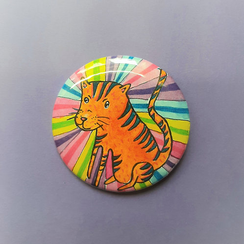 Tiger Pinback Button