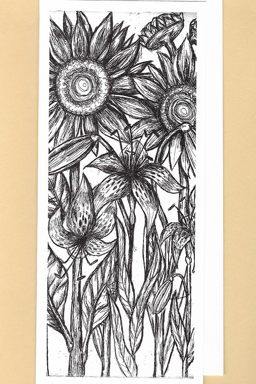 Sunflowers and Tiger Lilies Card