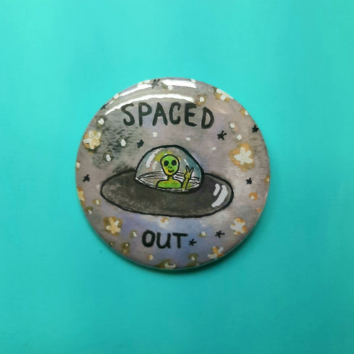 Spaced Out Pinback Button