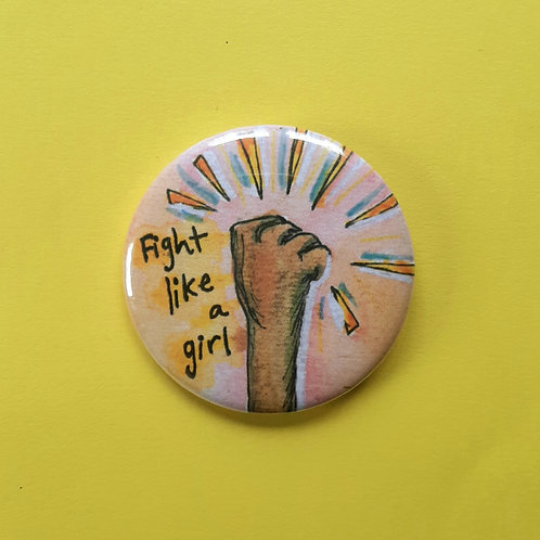 Fight like a Girl Pinback Button