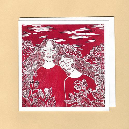 Red Raspberry Women Card
