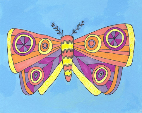 Blue Moth Card