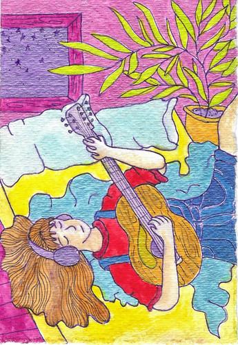 Guitar in Bed