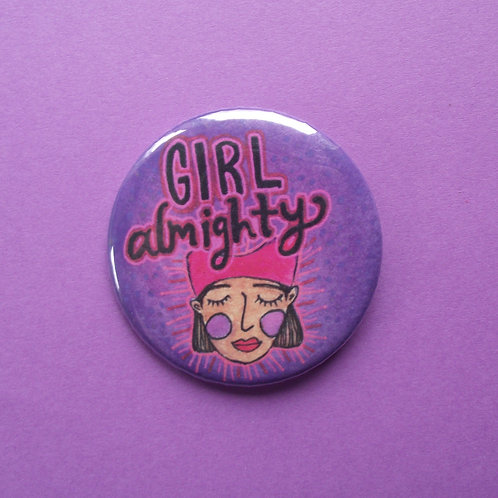 Girl Almighty Pinback Button