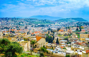 The view on the old Nazareth from the to