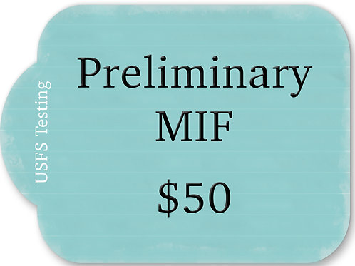 Preliminary MIF