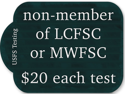 Non-member of LCFSC or MWFSC per test