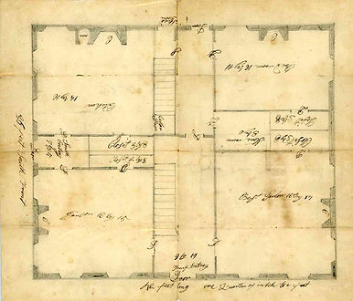 First floor plan of the William Clapp House