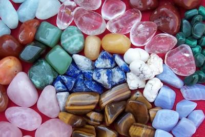 ensemble de pierres roulées
