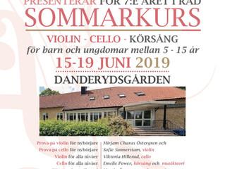 Välkomna på sommarkurs 15-19 juni 2019!