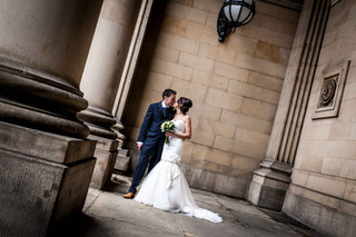 Wedding Photography.  Leeds Town Hall.  West Yorkshre.