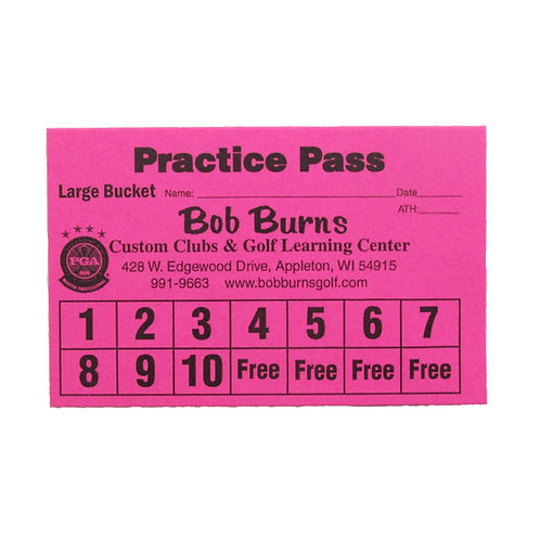Practice Pass Large Bucket