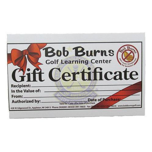 Bob Burns Gift Certificates