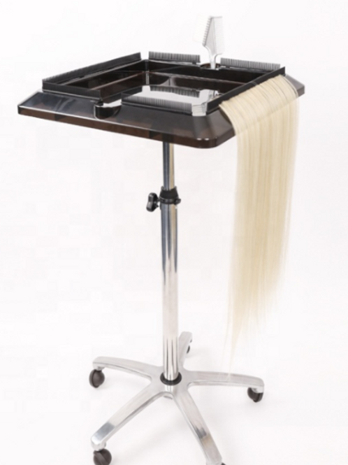 Professional Hair Extension Organizer Tray With Wheels.