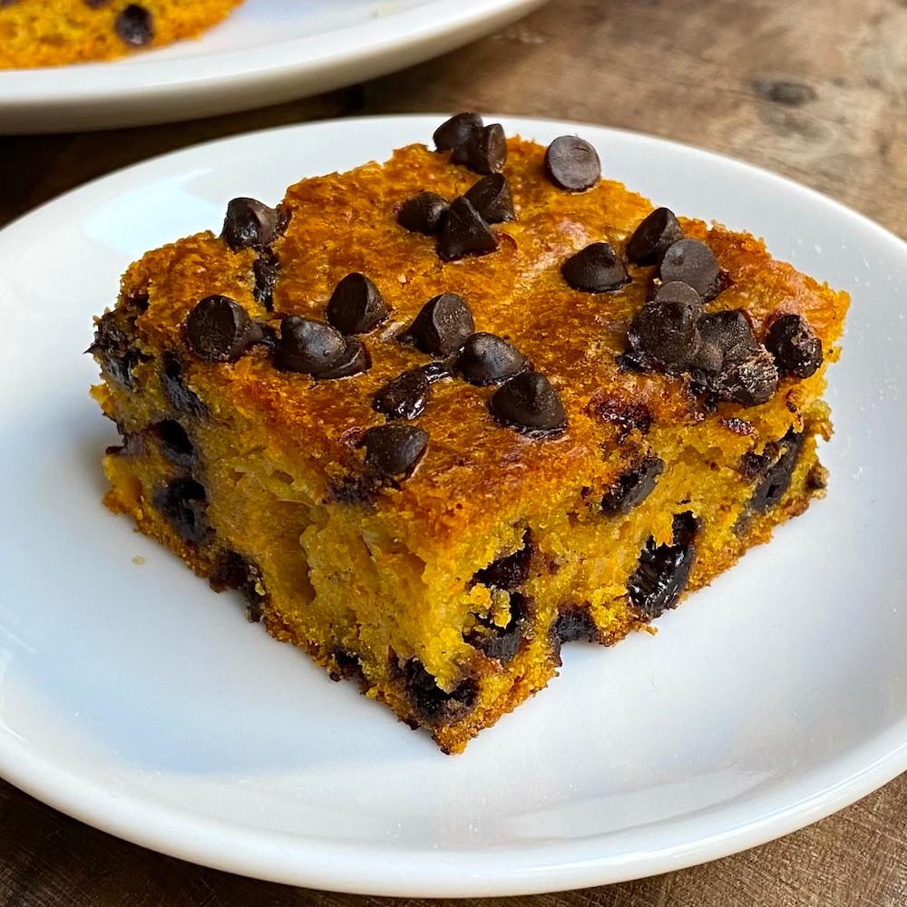 receta de pumpkin cake o torta de zapallo budín de zapallo