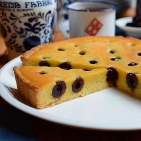 Tarta Frangipane con Amarena - Crema de Almendras