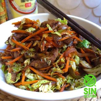 Salteado de Carne con Vegetales