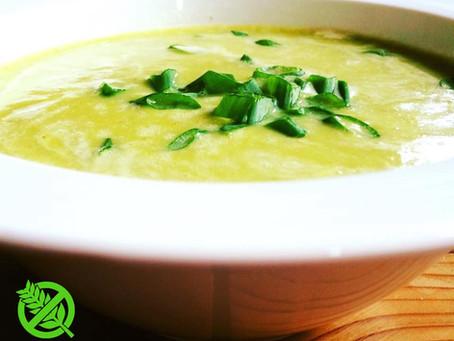 Sopa de Puerros y Cebolla de Verdeo