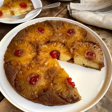 Torta Invertida de Ananá o Piña