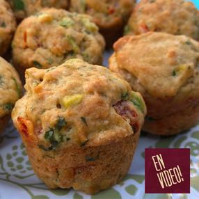 Muffins Salados de Palta y Tomates Cherry