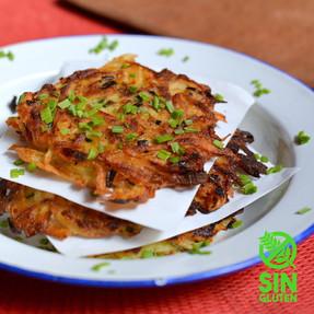 Latkes - Kartoffelpuffer - Tortillitas de Papa