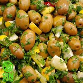 Aceitunas Marinadas al limón