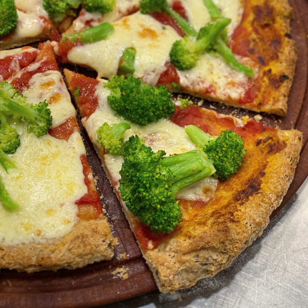 pizza de harina integral