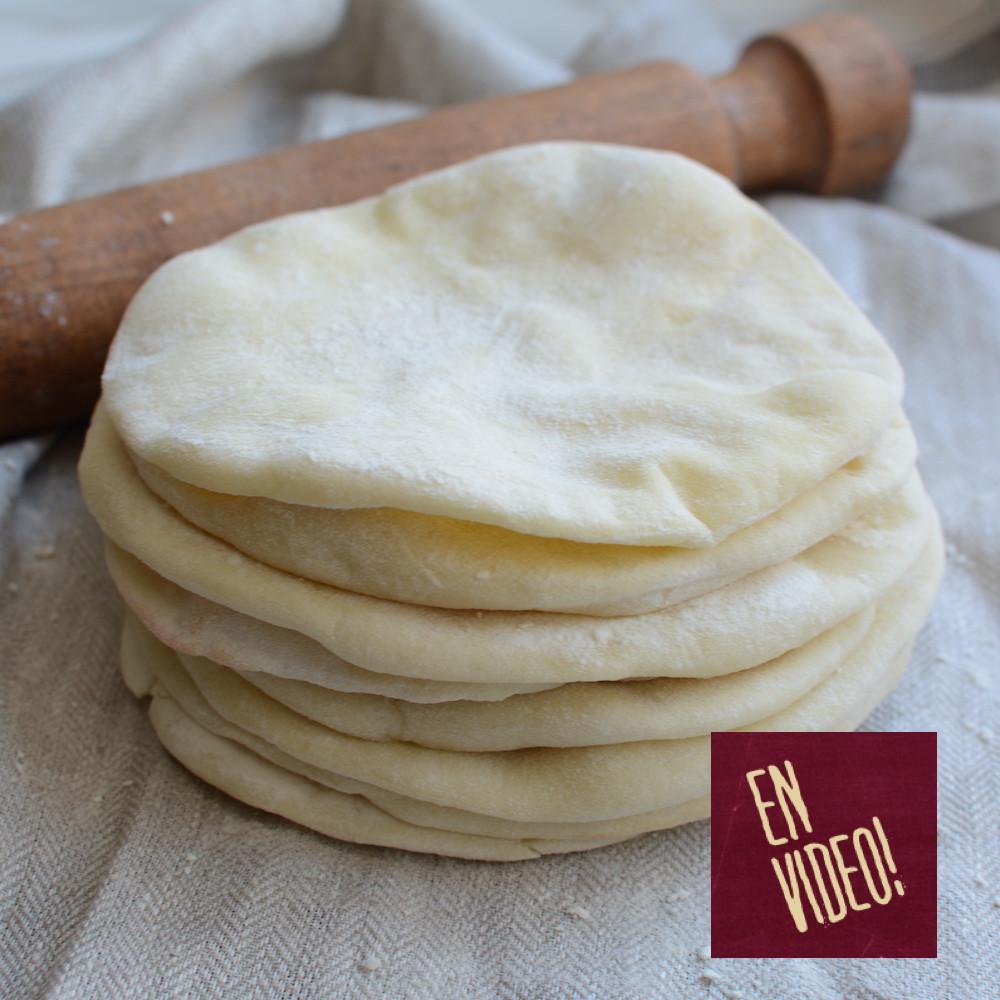 receta de pan árabe pan pita