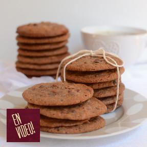Galletas de Chocolate y Avellanas - Cookies