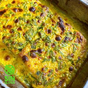 Pescado al Horno con Curry y Verdeo