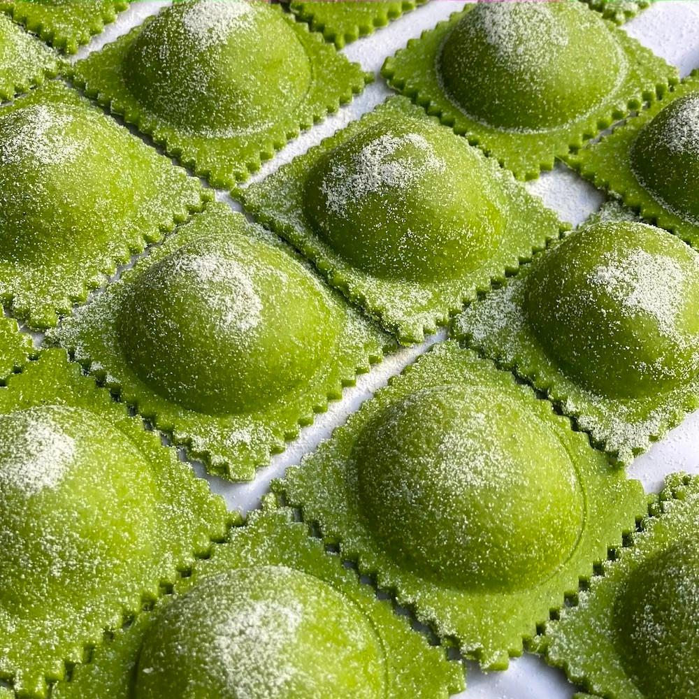 masa verde para pastas - masa para pastas de rúcula