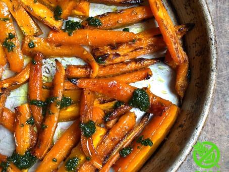 Zanahorias Asadas con Miel y Curry