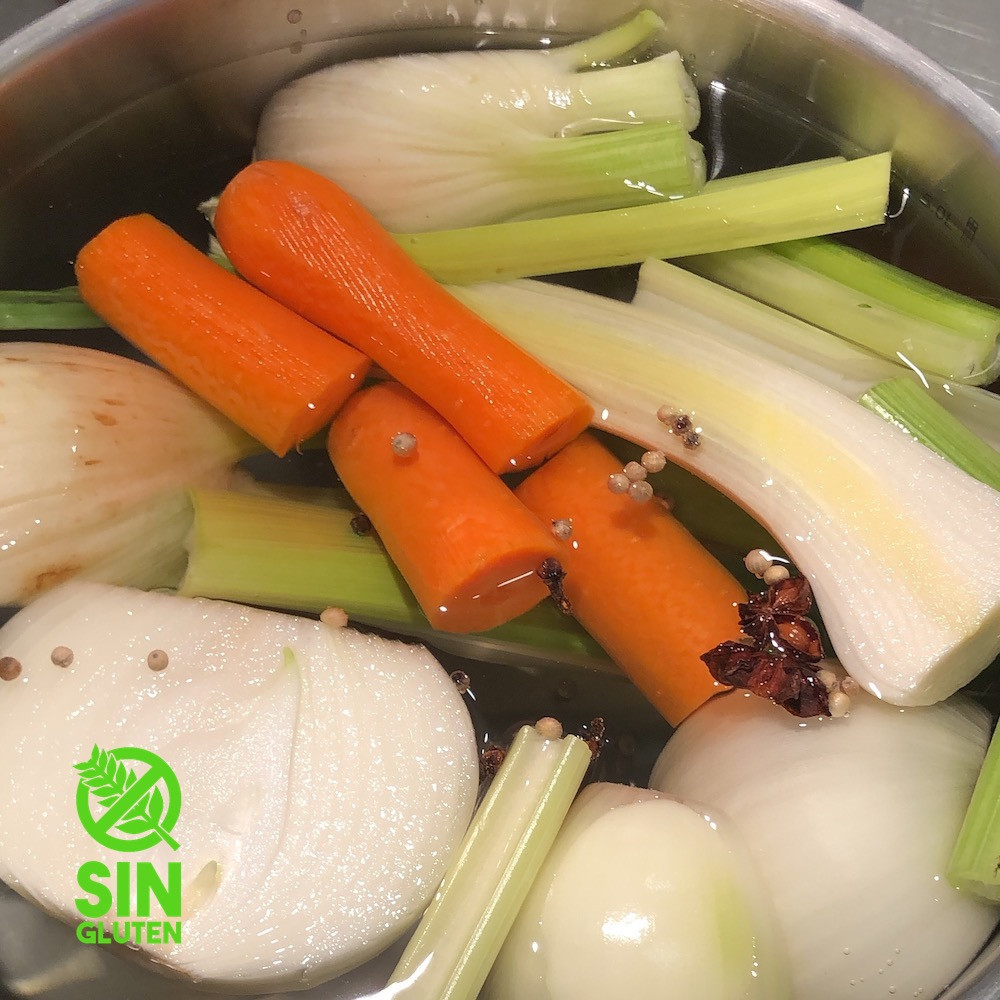 caldo casero de vegetales