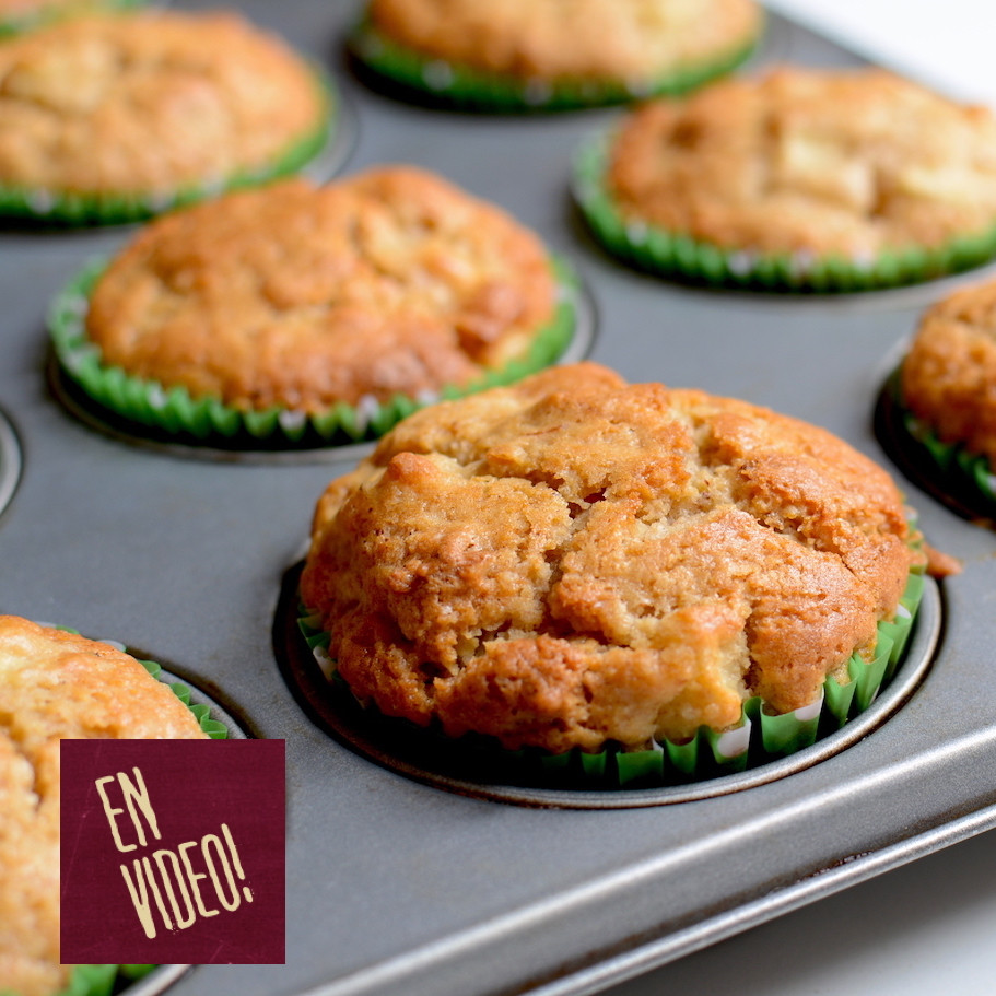 Muffins de Manzana - Receta de Muffins Integrales