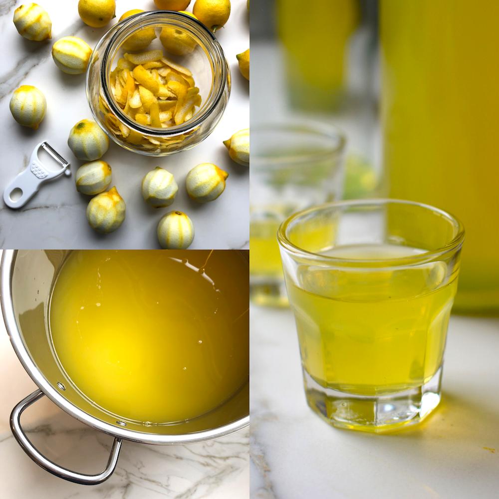 limoncello casero - licor de limón