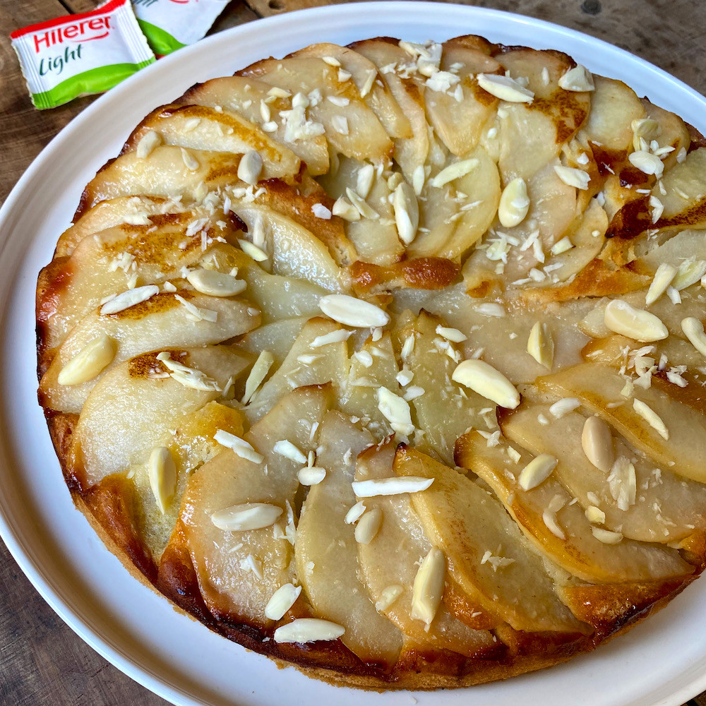 receta de torta fácil de peras